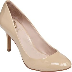 Vince Camuto Sariah Nude Patent Leather Pump 7.5